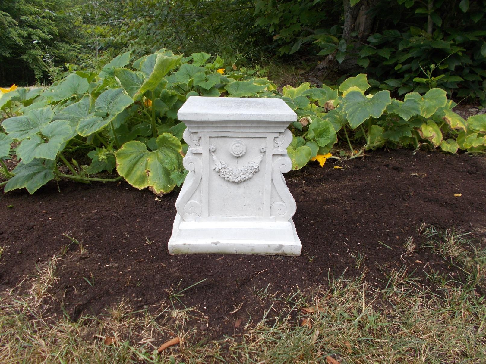 original with garden pedestal com lovely stone sundial new of memorial celestial e plaque laminate